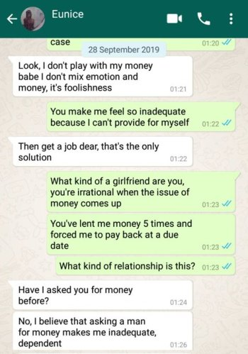 """Working class lady blows hot on her unemployed boyfriend after discovering that he """"squandered"""" her money (Screenshots) 9"""
