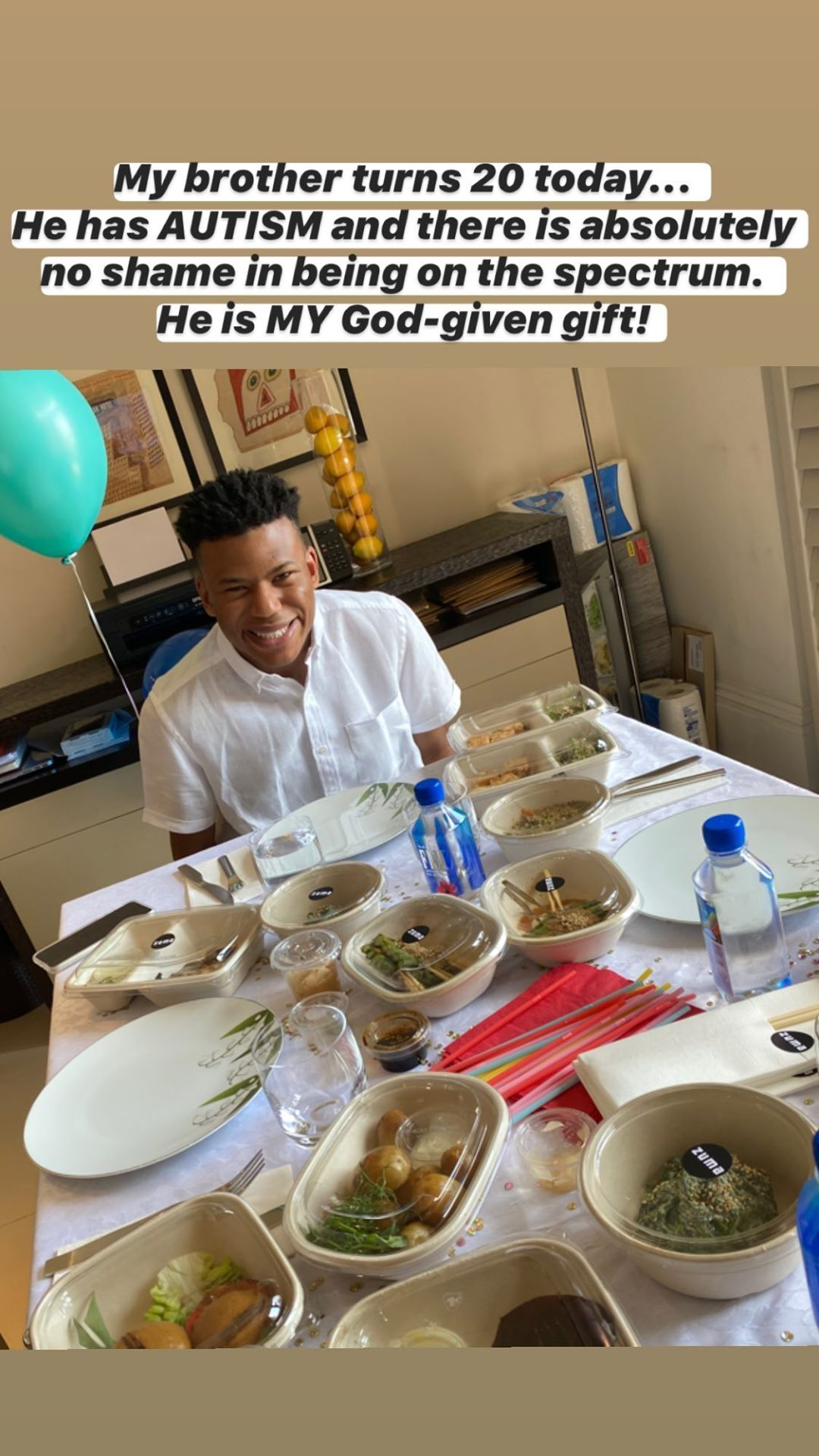 """""""There's no shame being on the spectrum"""" – DJ Cuppy speaks about her brother's autism as she celebrates his birthday"""