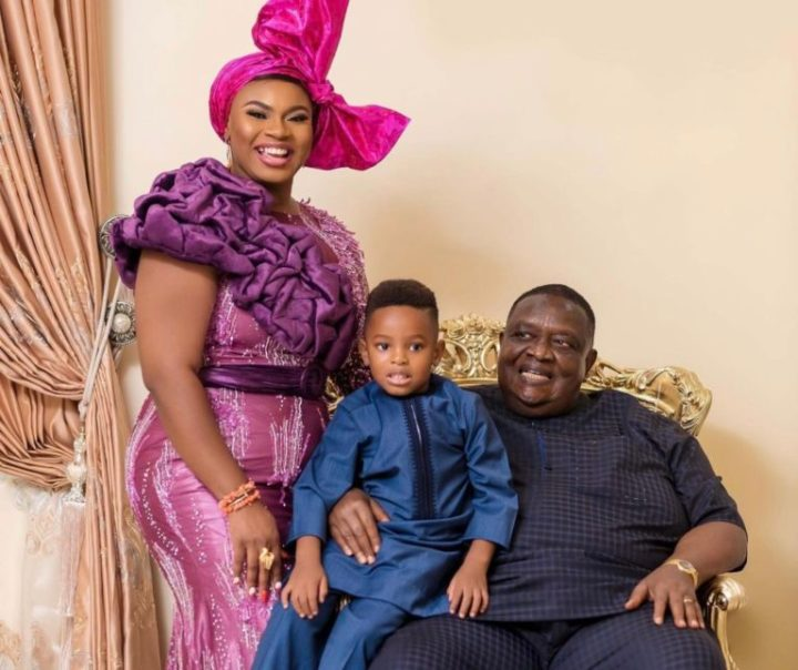 Checkout photos of #BBNaija Prince' sister, who is married to 77yr old billionaire Emmanuel Iwuanyanwu