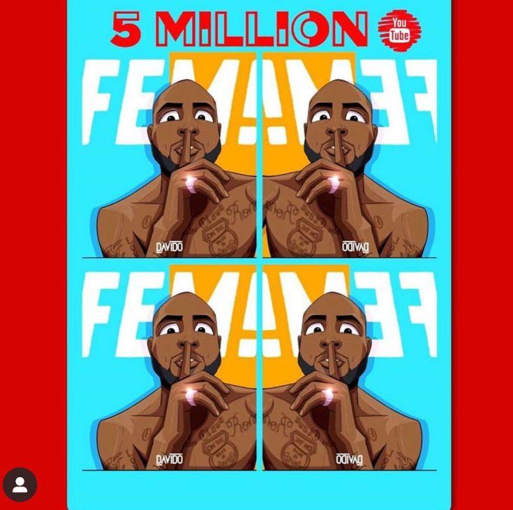 davido 5 million views