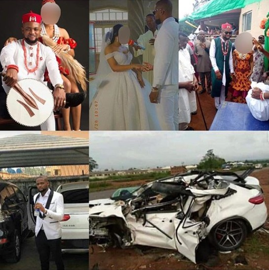 Man dies in a car accident, three days after his wedding in Delta (Photos/video)Rex Ebube Amatu