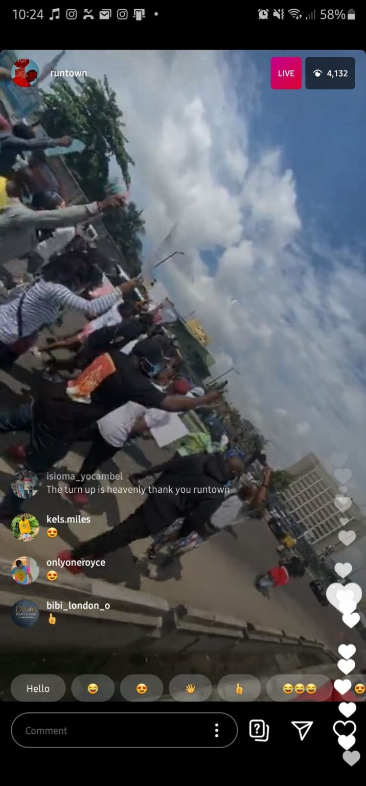 #ENDSARS: Runtown and Falz begin peaceful protest in Lagos