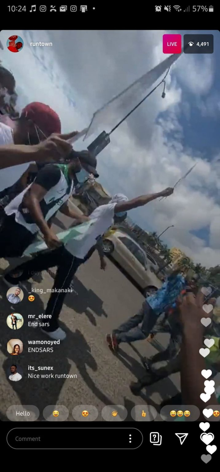 ENDSARS: Runtown and Falz begin peaceful protest in Lagos