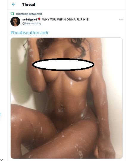 Cardi B's fans share their nude photos to show support, after she accidentally leaked her unclad photo (+18)