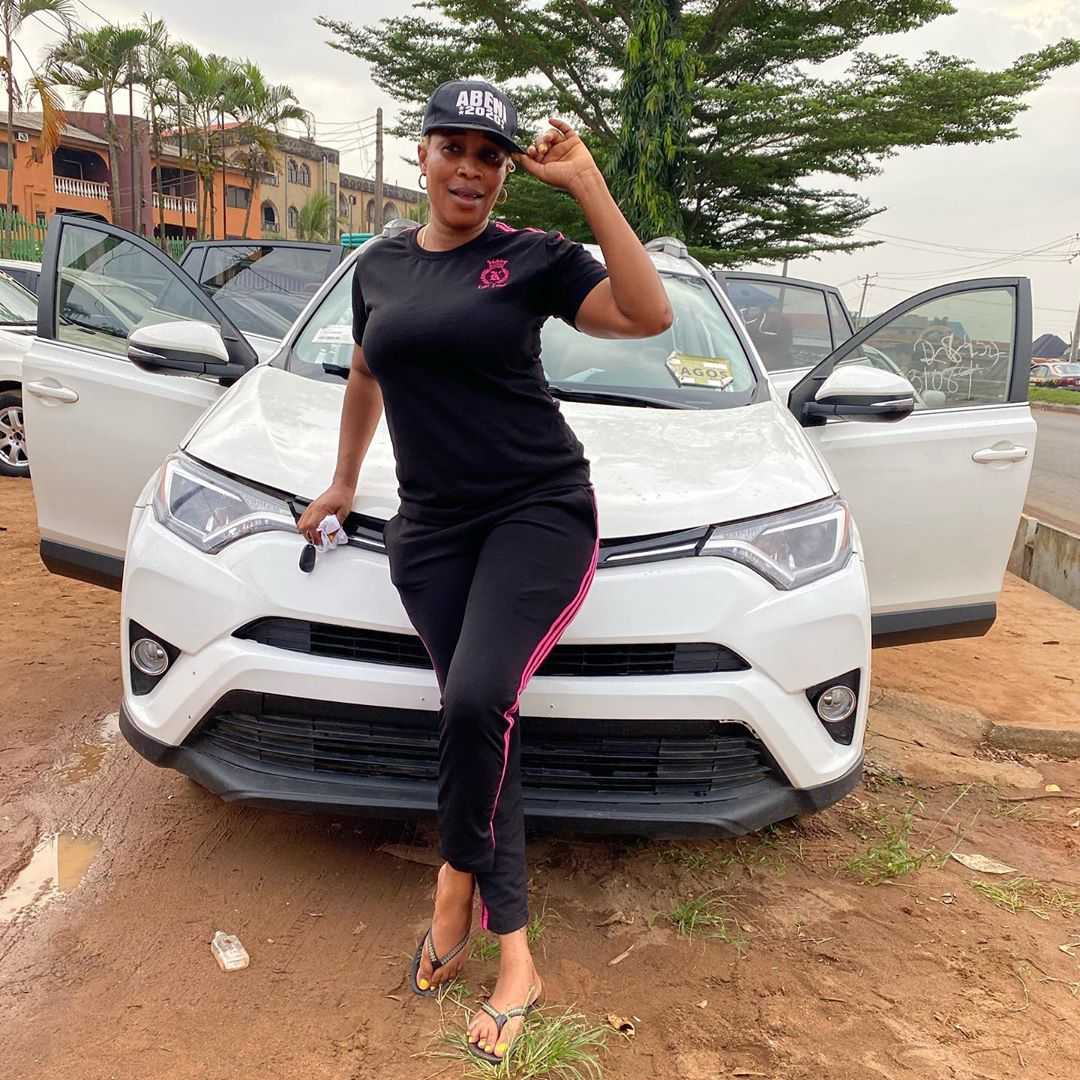 Prayer, faith and love feature prominently as actress Kemi Korede acquires a keyless Toyota