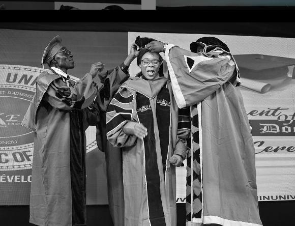 Dancer, Kaffy, bags honorary doctorate degree from ESCAE Benin university