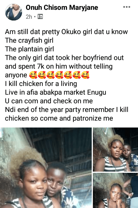 I'm the only girl that took her boyfriend out and spent N7k on him without telling anyone – Nigerian girl boasts