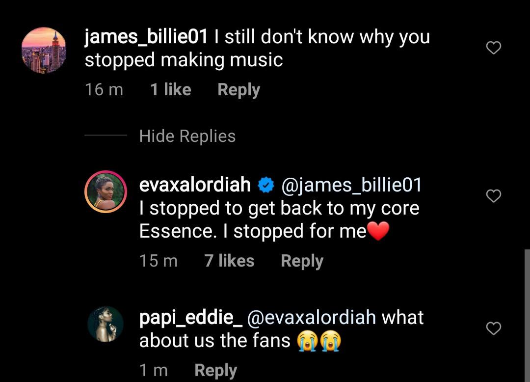 Eva reveals