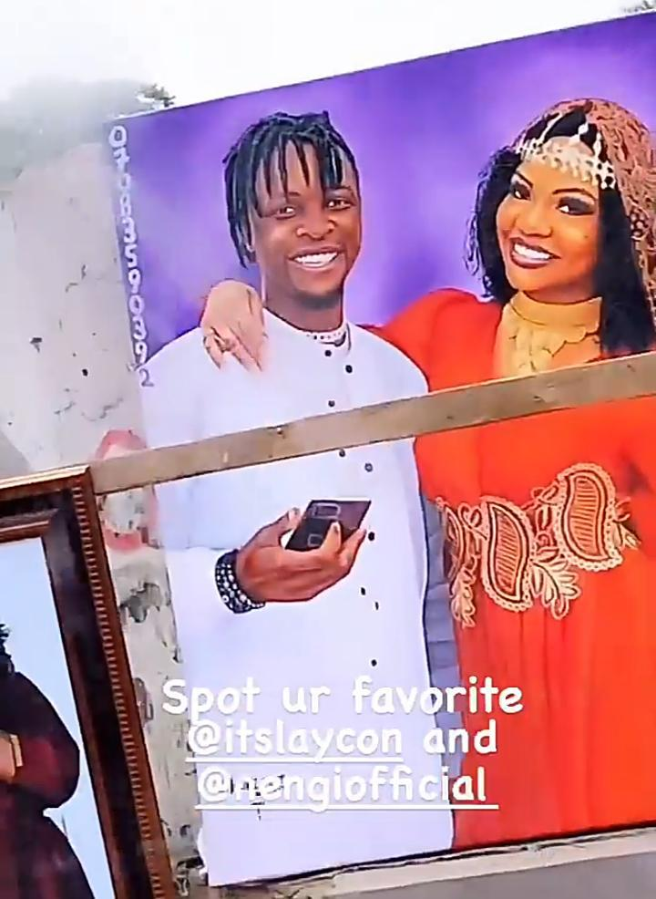 """This is so cute"" - Laycon reacts to a roadside painting of him and Nengi (Video)"