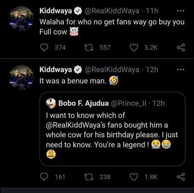 Kiddwaya's fan buys