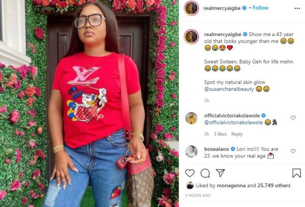 Mercy Aigbe brags