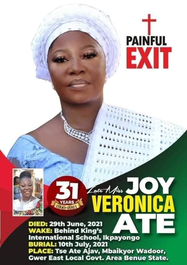 Nigerian woman dies