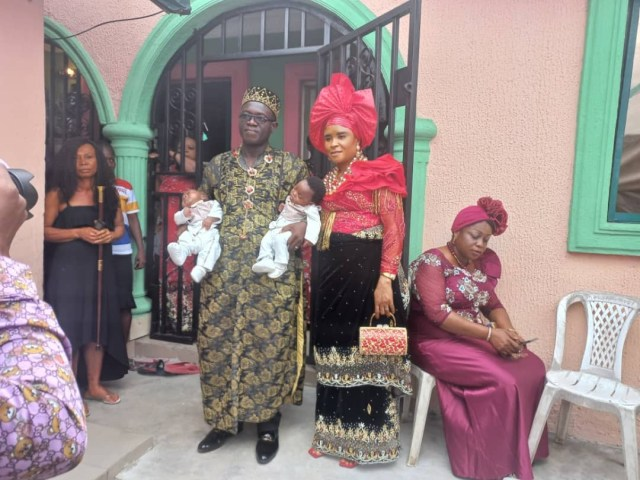 Nigerian couple welcome