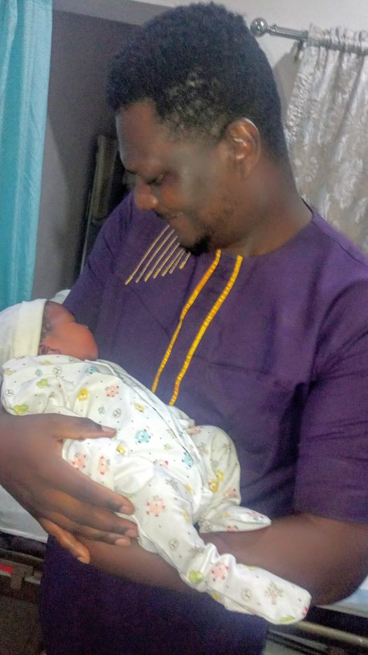 Nigerian lawyer and pastor celebrates as he becomes a father after 11 years of marriage (Photos)