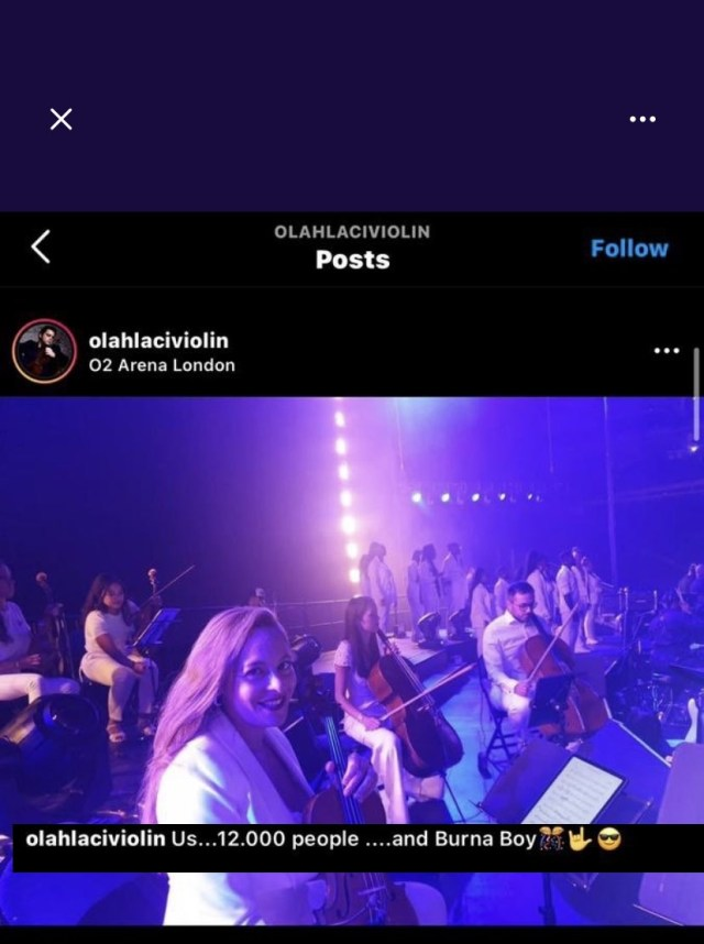 12000 people attended - Instrumentalist who performed at Burna Boy's show unknowingly contradicts claim that he had a sold-out show