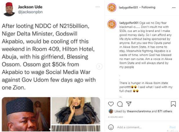 Blessing Osom reacts