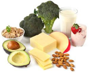 Food rich in Calcium content