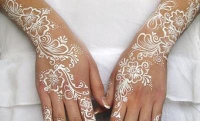 Beautiful White Henna Designs