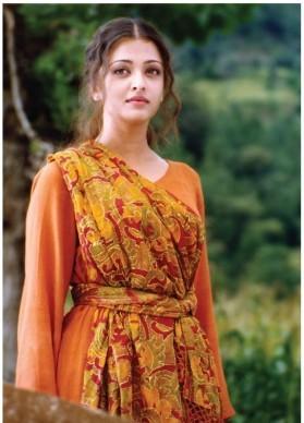 Aishwarya Rai in Saffron dress