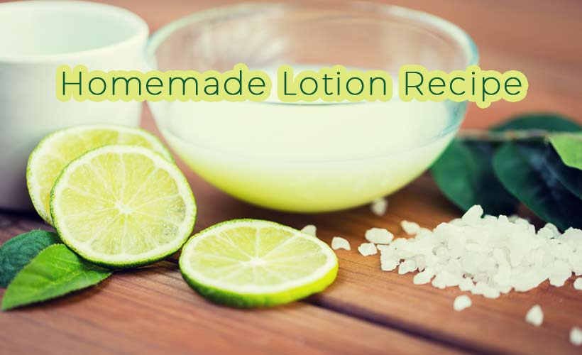 Homemade Lotion Recipe