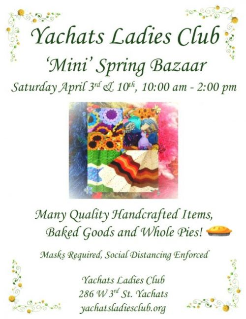 Yachats Ladies Club 'Mini' Spring Bazaar
