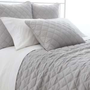 Quilted Silken Coverlet - Grey