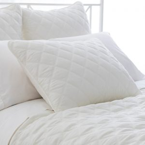 Quilted Silken Coverlet - Ivory