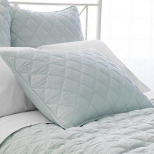 Quilted Silken Coverlet - Robins Egg Blue