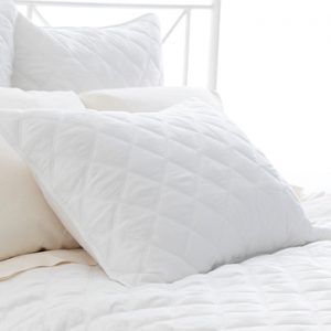 Quilted Silken Coverlet - White