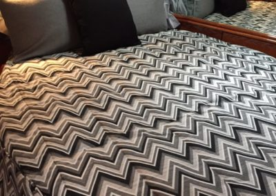 Yacht Bedding Black and White Zigzag