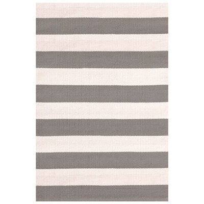 Catamaran Stripe Fieldstone Ivory Indoor Outdoor Rug