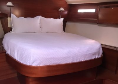 Dufour Yachts 525 custom bedding diamond matelasse