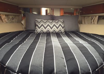 Yacht Bedding Blue and Grey Stripes