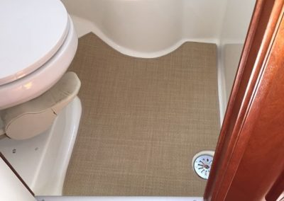 Yacht Flooring Beige Bathroom