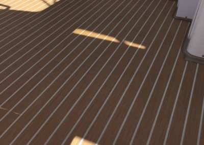 Yacht Flooring Brown Stripes 3