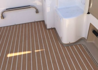 Yacht Flooring Brown Stripes 2