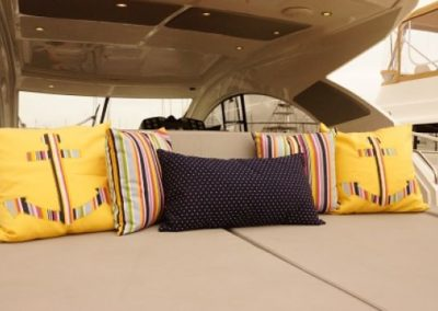Yacht Pillows Yellow Anchor
