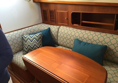 Yacht Upholstery Dots and Pillows Blue