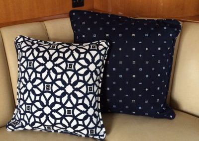 Yacht Pillows Navy Blue and White