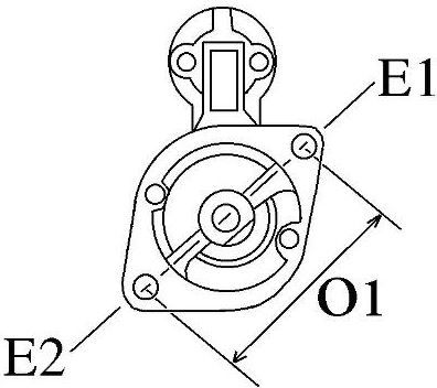 Volvo Penta Starter Motor for D2-55AA-F and D2-75A-F was