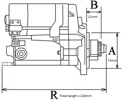 Volvo Penta Starter Motor for MD2040A-D was 3580472 now