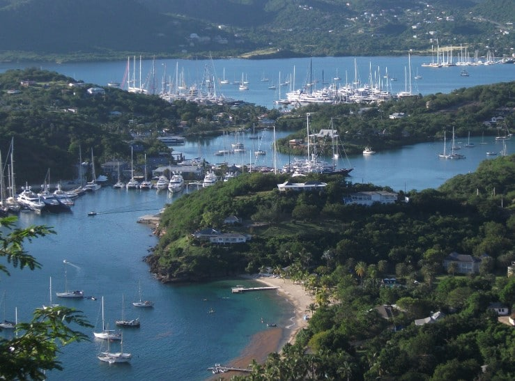 Antigua sailing between Steel Band and Spirit of Tradition