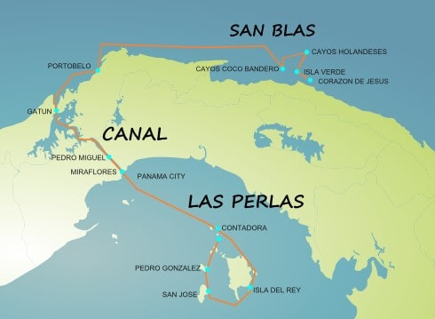 Panama Sailing areas