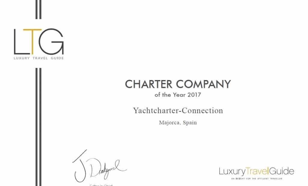 "Yachtcharter-Connection elected  ""Charter Company of the Year 2017"""