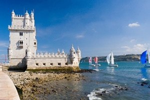 Portugal - Yachts at Belem Tower