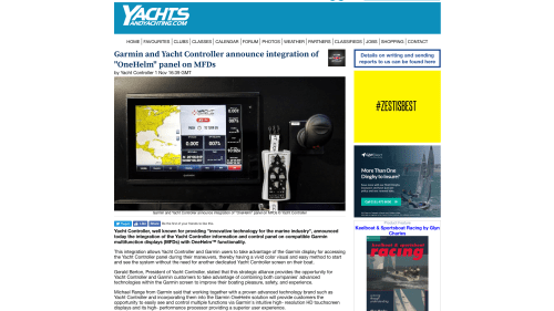 small resolution of yachts and yachting garmin and yacht controller announce integration of