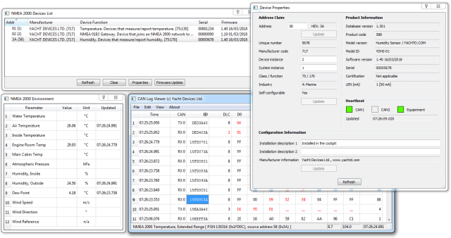 Screenshot of CAN Log Viewer, click to enlarge