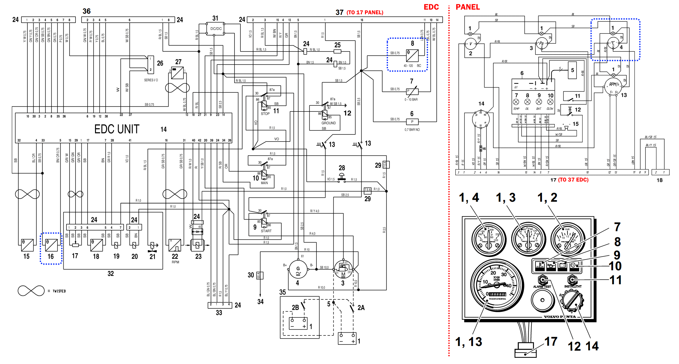 Volvo Penta Engine Wiring Diagram Model 190a. Volvo. Auto