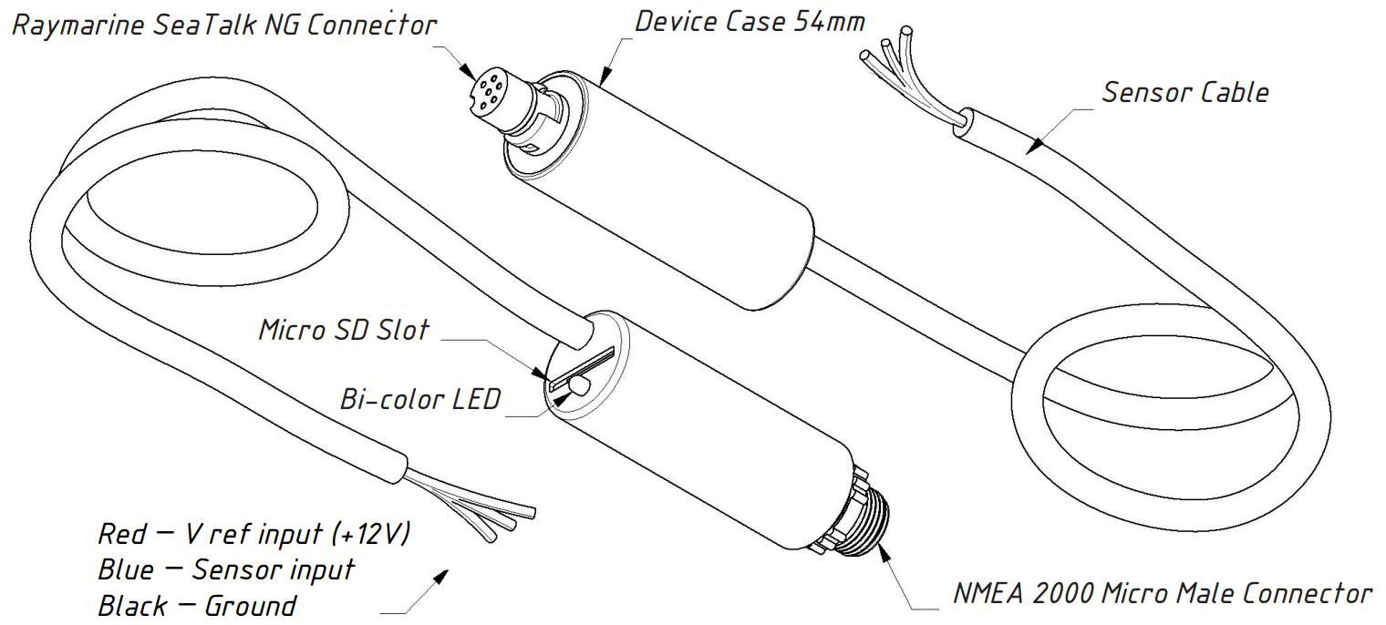 Rudder Adapter: Connect resistive type rudder angle sensor