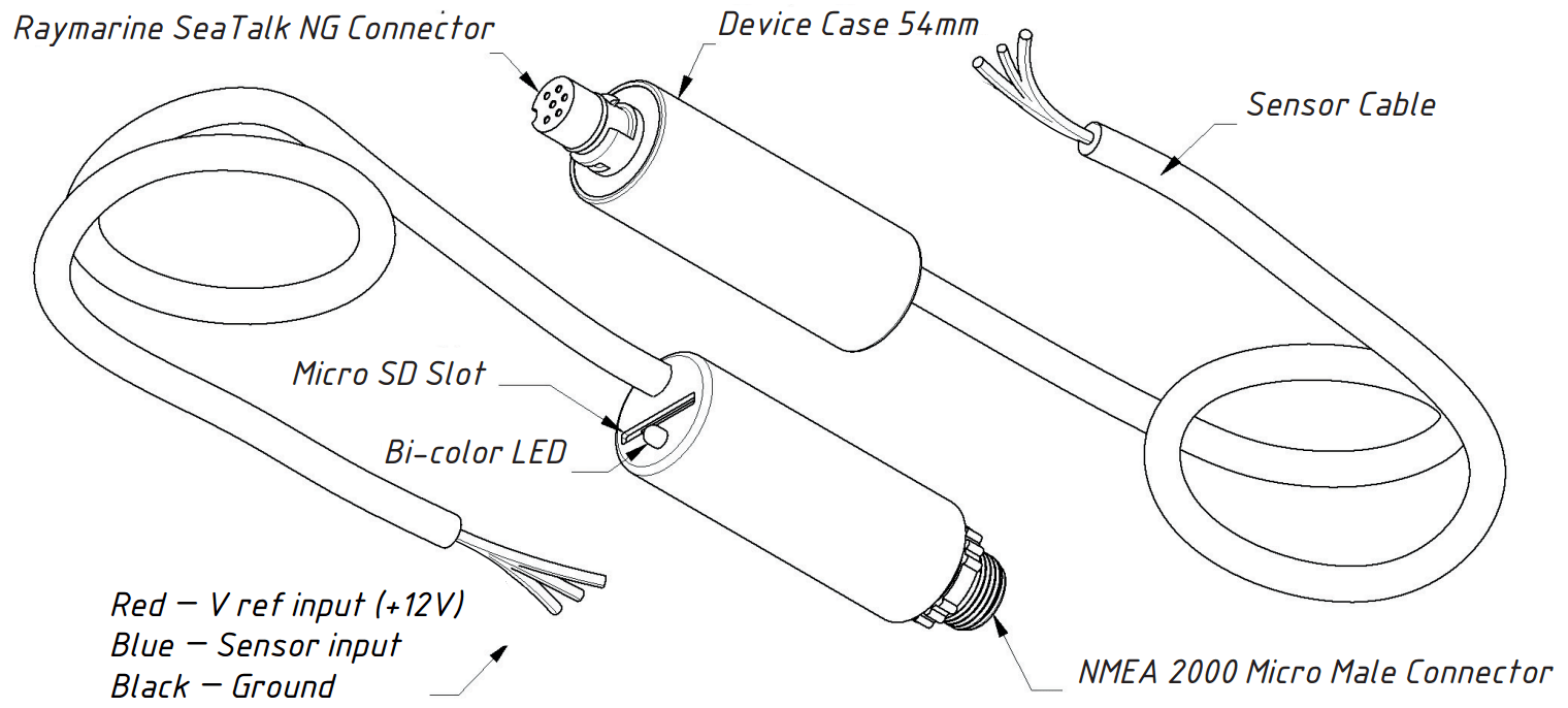 Tank Adapter: Connect resistive type fluid level sensor to
